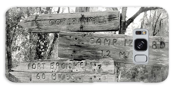 Old Directional Signs At Fort Cooper  Galaxy Case by Debra Forand