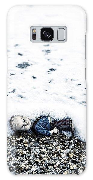 Drown Galaxy Case - Old Doll On The Beach by Joana Kruse