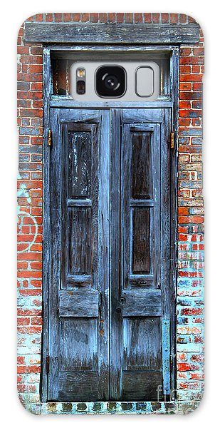 Old Door With Bricks Galaxy Case