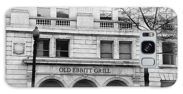 Old Ebbitt Grill Facade Black And White Galaxy Case