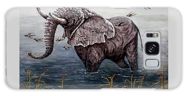 Old Elephant Galaxy Case by Judy Kirouac