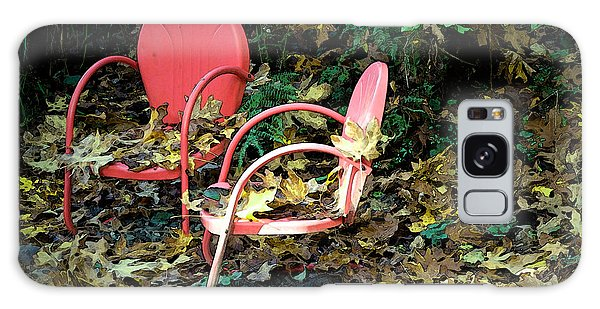 Old Empty Chairs Galaxy Case by Gwyn Newcombe