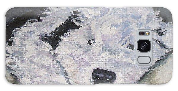 Old English Sheepdog Pup Galaxy Case by Lee Ann Shepard