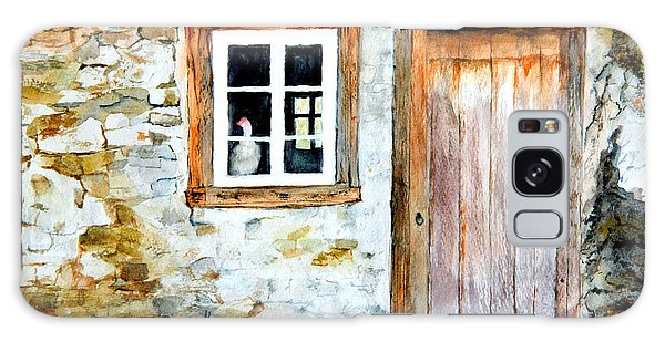 Old Farm House Galaxy Case by Sher Nasser