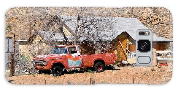 Old Farm Trucks Along Route 66 Galaxy Case