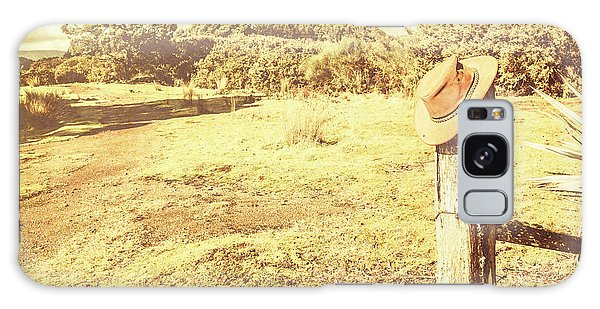 Fence Post Galaxy Case - Old Farming Landscape by Jorgo Photography - Wall Art Gallery