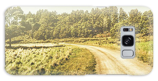 Old-fashioned Country Lane Galaxy Case