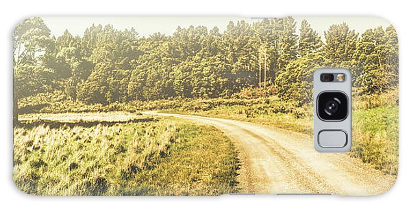 Old Road Galaxy Case - Old-fashioned Country Lane by Jorgo Photography - Wall Art Gallery