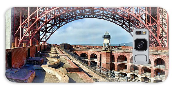 Old Fort Point Lighthouse Under The Golden Gate Galaxy Case