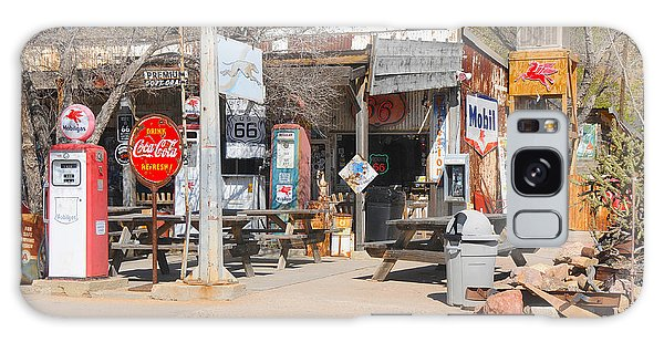 Old Gas Station, Historic Route 66 Galaxy Case