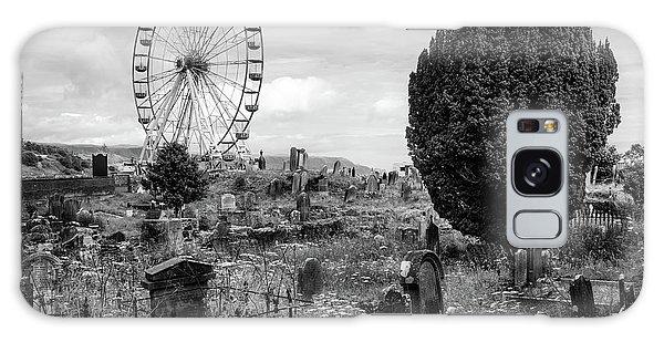 Old Glenarm Cemetery And Big Wheel Bw Galaxy Case by RicardMN Photography