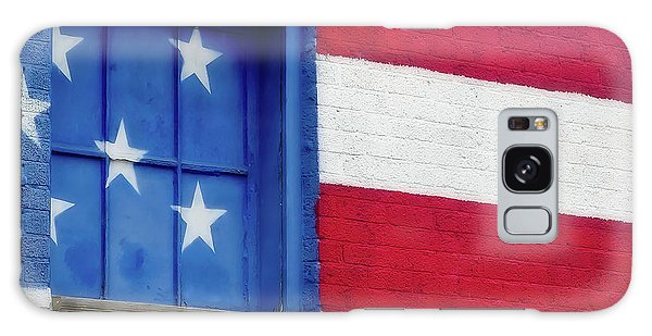 Old Glory, American Flag Mural, Street Art Galaxy Case