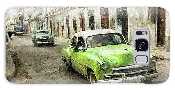 Old Green Car Galaxy Case