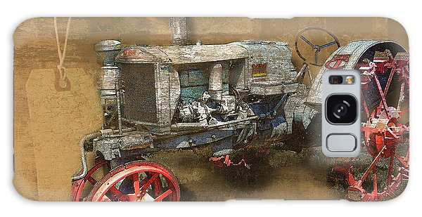 Old Grey Tractor Galaxy Case by Deborah Nakano