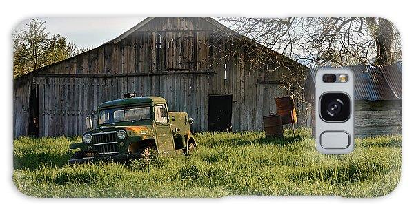 Old Jeep, Old Barn Galaxy Case