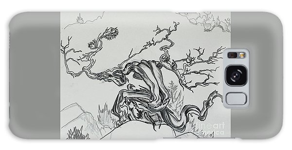 Old Juniper Dancing With The Wind -- Field Sketch Galaxy Case by Dawn Senior-Trask