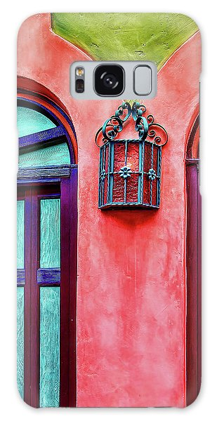Galaxy Case featuring the photograph Old Lamp Between Windows by Gary Slawsky