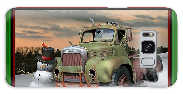 Old Mack Christmas Card Galaxy Case
