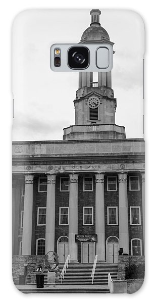 Penn State University Galaxy Case - Old Main Penn State Black And White by John McGraw
