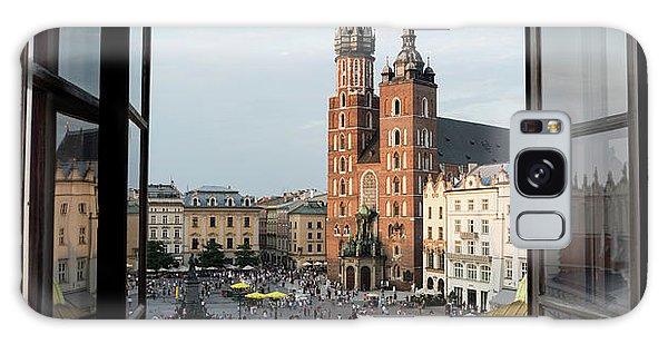 Town Square Galaxy Case - Old Main Square Krakow Poland Panorama by Steve Gadomski
