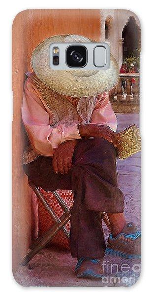 Old Man In Atottonilco Galaxy Case