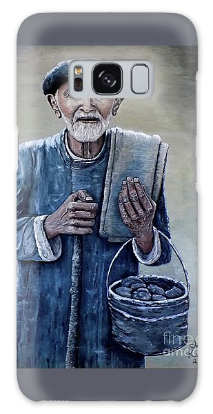 Old Man With His Stones Galaxy Case by Judy Kirouac