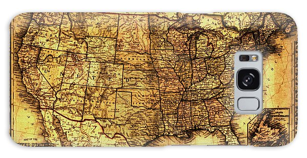 Old Map United States Galaxy Case