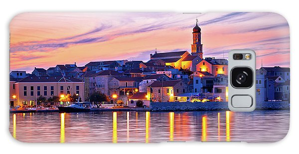 Old Mediterranean Town Of Betina Sunset View Galaxy Case