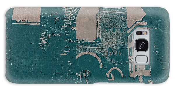 Town Square Galaxy Case - Old Milan by Naxart Studio