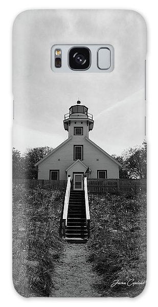 Old Mission Point Lighthouse Galaxy Case by Joann Copeland-Paul