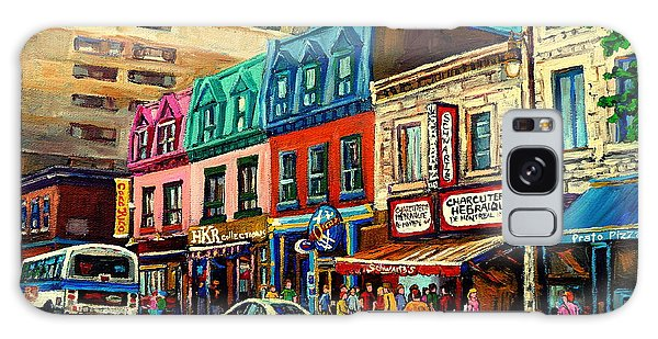 Old Montreal Schwartzs Deli Plateau Montreal City Scenes Galaxy Case