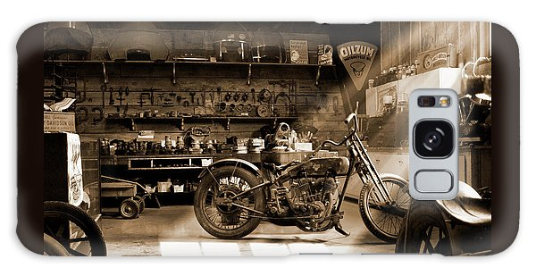 Old Motorcycle Shop Galaxy Case by Mike McGlothlen