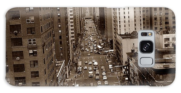 Old New York Photo - 10th Avenue Traffic Galaxy Case
