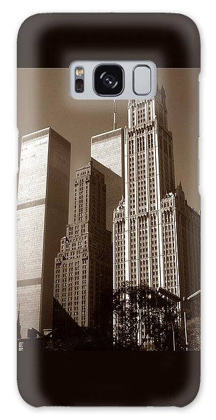 Old New York Photo - Woolworth Building Galaxy Case