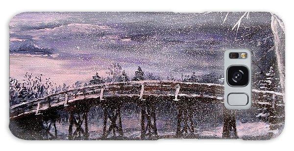 Old North Bridge In Winter Galaxy Case