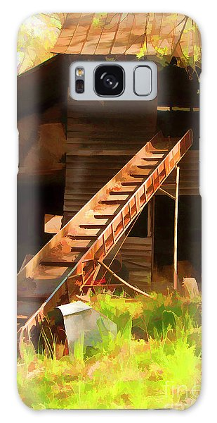 Old North Carolina Barn And Rusty Equipment   Galaxy Case by Wilma Birdwell