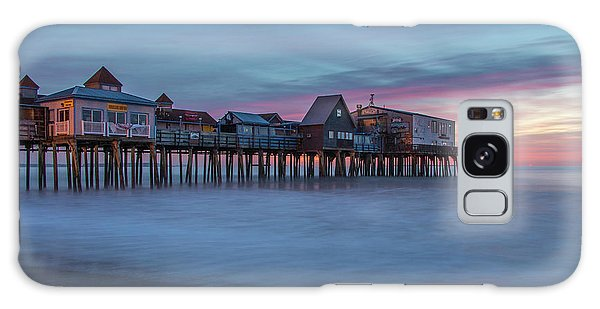 Old Orcharch Beach Pier Sunrise Galaxy Case