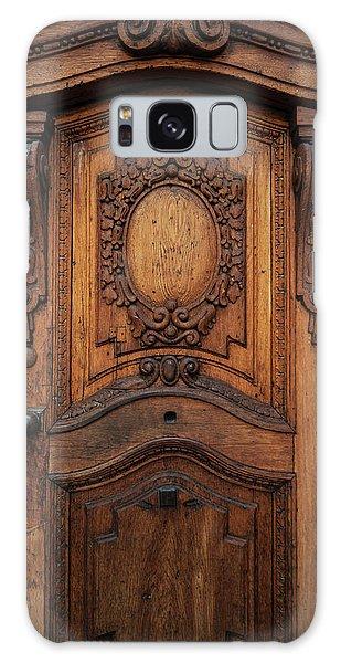 Old Ornamented Wooden Doors Galaxy Case by Jaroslaw Blaminsky