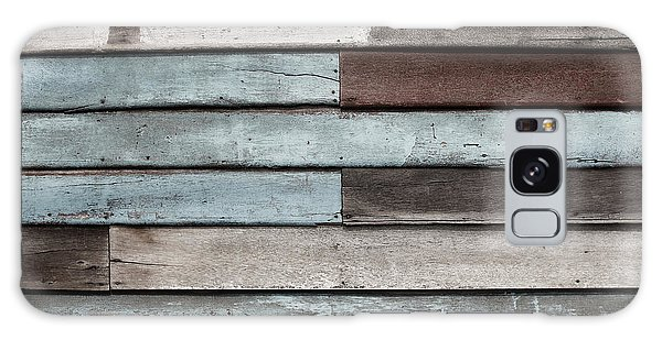 Old Pale Wood Wall Galaxy Case by Jingjits Photography