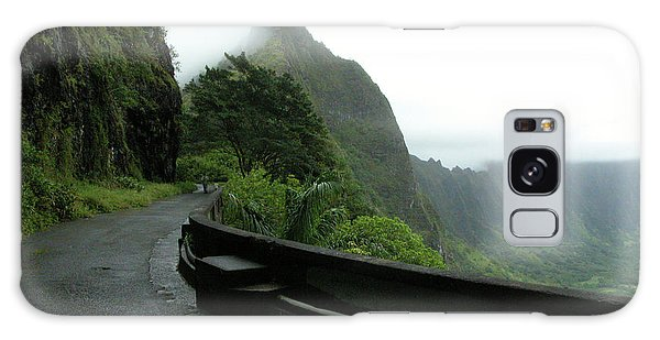 Galaxy Case featuring the photograph Old Pali Road, Oahu, Hawaii by Mark Czerniec