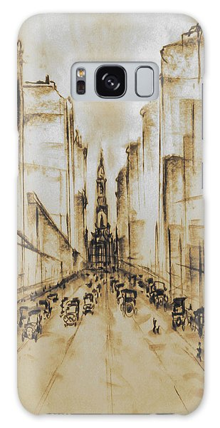 Old Philadelphia City Hall 1920 - Vintage Art Galaxy Case
