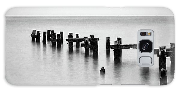 Old Pilings Black And White Galaxy Case