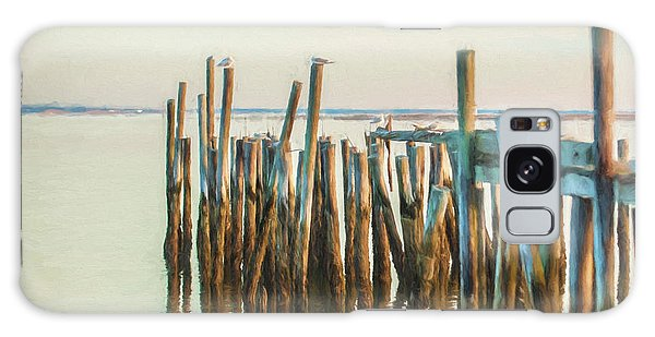 Old Provincetown Wharf Galaxy Case