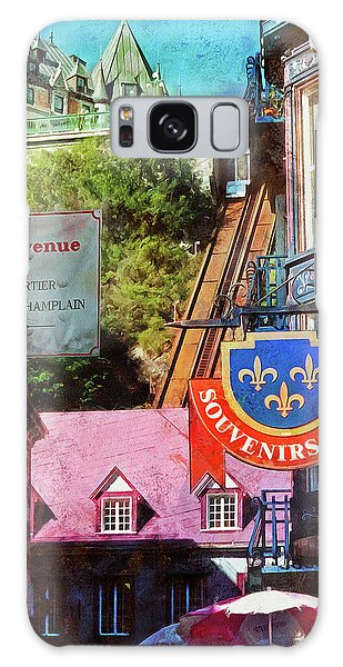 Old Quebec City Funicular Galaxy Case