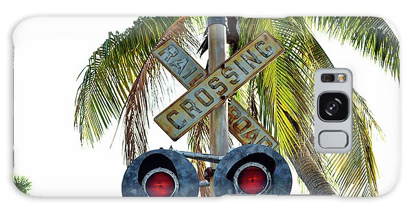 Old Railroad Crossing Sign Galaxy Case