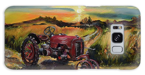 Old Red At Sunset - Tractor Galaxy Case