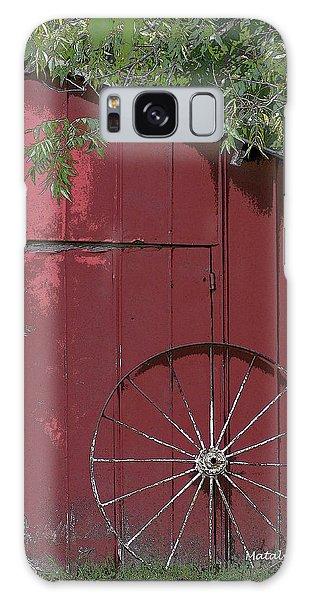 Old Red Barn Galaxy Case