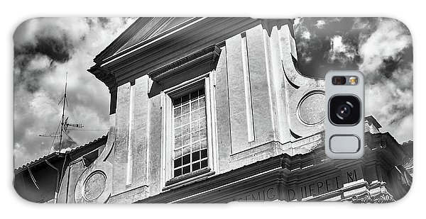 Old Roman Building In Black And White Galaxy Case