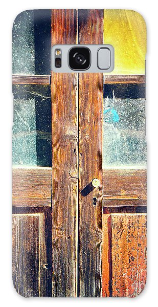 Galaxy Case featuring the photograph Old Rotten Door by Silvia Ganora