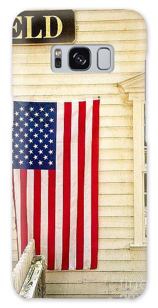 Old Rugged Field Flag Galaxy Case by Craig J Satterlee